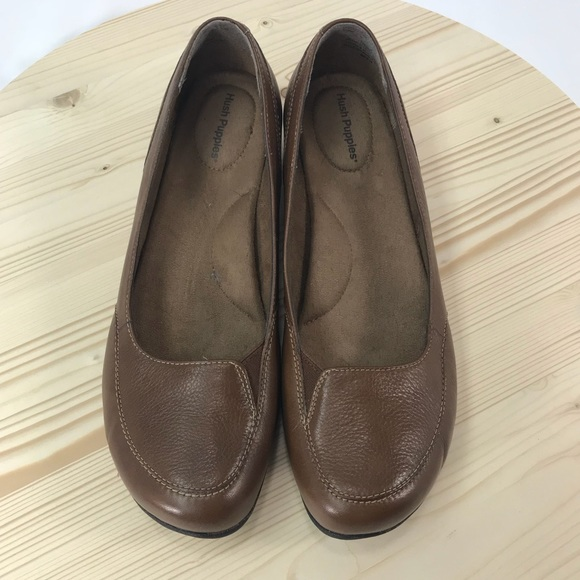 d0396815ada08 Hush Puppies Shoes - HUSH PUPPIES Women's brown leather loafers sz 10
